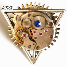 $enCountryForm.capitalKeyWord Australia - steampunk gothic punk hip hop rock mechanical watch part movement Deathly Hallows open one finger ring men women vintage jewelry