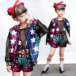 niños jazz traje de baile moderno lentejuelas Niñas Trajes de hip-hop  Conjunto jazz Ropa de baile Ropa de rendimiento para niños d14eb5382a0