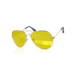 vision alloy 2018 - Designer Yellow Vision Sun Glasses Yellow Driving View Sunglasses UV400 HD Night discount vision alloy