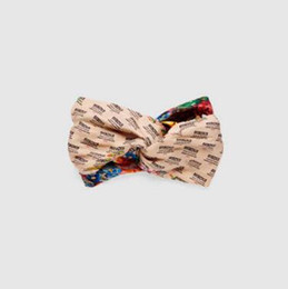 Chinese  g Logo and flower print hair band women fashion luxury headband manufacturers