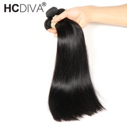 $enCountryForm.capitalKeyWord Australia - Brazilian Straight Hair 4 Bundles 100% Human Hair Bundles 8-32 inch Brazilian Hair Weave Bundles Non-Remy Extensions HCDIVA