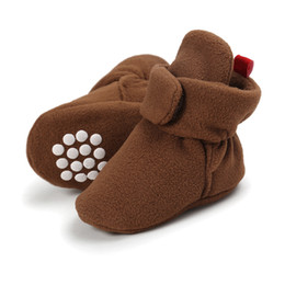 Chinese  Newborn Baby Shoes Winter Kids Boy Girl Cotton Cloth Booties First Walker Anti-slip Soft Sole Toddler Sneaker First Walkers manufacturers