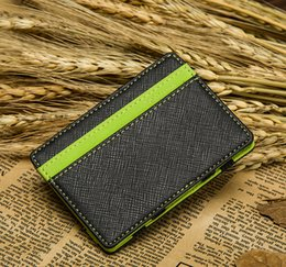 $enCountryForm.capitalKeyWord NZ - ID  WALLET FAUX LEATHER STUNNING HOLDER MENS MONEY CLIP MAGIC SLIM