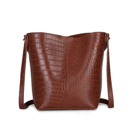 0cbf404f23d0 RANYUE 2Pcs Set Bucket Bags For Women Handbags Crocodile Leather Shoulder  Bag Ladies Messenger Bags Small Clutch Purse Sac Femme