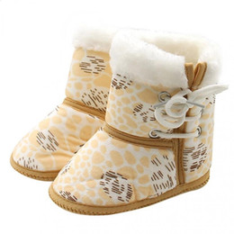 $enCountryForm.capitalKeyWord Australia - Warm snow boots Lace-Up Prewalker Toddler winter Infant Cotton baby Sole Cloth footwear Boots Soft Baby Shoes Newborn