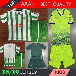 Chinese  JOAQUIN VAN DER VAART BOUDEBOUZ MANDI BARTRA 2018 2019 Real Betis Soccer Jersey 17 GARCIA Custom Home Away Adult Kids Youth Football Shirt manufacturers