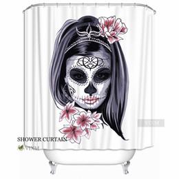 "$enCountryForm.capitalKeyWord Canada - Vixm Home Dia De Los Muertos Fabric Shower Curtain Butterfly Bone Bath Curtain for Bathroom With Hooks Ring 72"" X 72"""