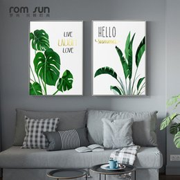 Nordic Style Tropical Plant Canvas Painting Wall Art Picture For Living  Room Home Decoration Posters And Prints HD Maple Leaves Discount Tropical  Plants ...
