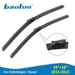 "passat windshield 2019 - BAOLUO Car Windshield Wiper Blades For Volkswagen Passat 2011 2012 2013 Pair 24""+19""Soft Natural Rubber Windsc"