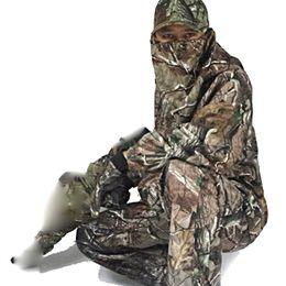 Multicam Suit Australia - 5 Pc Men's Outdoor Bionics Camping Hunting Leaf Camouflage Dress Jacket Pants Waterproof Suit Watching Bird Multicam Sniper Sets