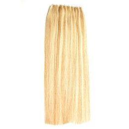 Discount tape hair extensions 18 613 - 200G Rubio 27 613 Blonde Brazilian Hair Skin Weft Tape Hair Extensions 80 pieces Straight Tape in Extension Natural Hair