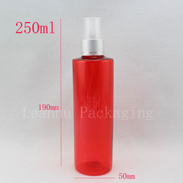 Red plastic containeR pump online shopping - 250ml x red colored empty makeup setting spray pump plastic bottles cc fine mist sprayer pump refillable containers