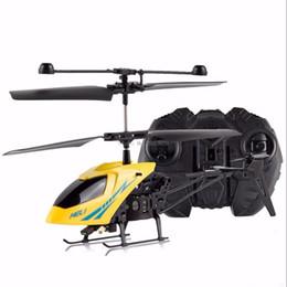 Discount mini radio remote control aircraft - Yellow 2CH Mini RC Helicopter Remote Control Radio Aircraft Electric Micro 2 Channel -B116