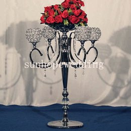 trumpets for wholesale NZ - silver trumpet vases for wedding centerpiece metal vase low price