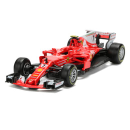 diecast model race cars 2019 - BBurago Racing Car Model Toy 1:43 Diecast & ABS F1 Formula Car Toy Simulation SF70H NO.7 Alloy Model Children's Toy