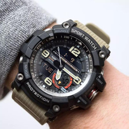 blue water sports 2019 - Multi-function Sport Watch Waterproof LED Quartz Clock Shockproof dual display watch Student Watches 5 color outside spo