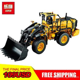 Toy wheels online shopping - NEW LEPIN Technology series Volvo L350F wheel loader Model Building blocks Bricks Compatible boy gift car Toys