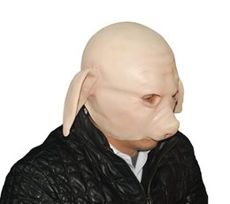 Pig Face Masks Australia - MostaShow Pilgrimage To The West Pig Head Latex Mask Actor's Full Headgear Easter Christmas Halloween Costumes Cosplay