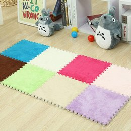 AreA rug styles online shopping - Suede Foam Carpets cm Splicing Mat Household Bedroom Comfortable Soft Children Non Slip Mats Area Rug ws ff