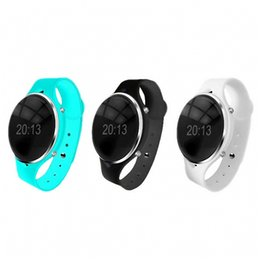 bluetooth wrist alarm 2019 - 1PC Bluetooth Wrist Smart Watch Phone Mate For  Support hands-free calls phone book Music Player Alarm Clock C0606*30 ch