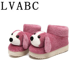 5a02b4e1dcd Discount ladies plush winter slippers - LVABC 2018 New Women Anime Cartoon Dog  Slippers lovely Warm