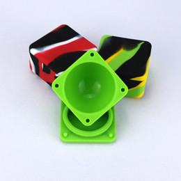 Discount square vape - Nonstick Wax Containers Silicone Box 37ml Silicon Container Big Square Food Grade Wax Jars Dab Dabber Tool Large Jar Oil