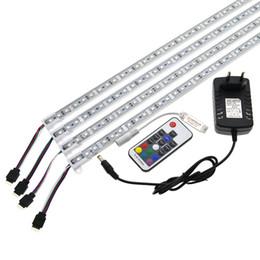 Barra de LED Luz 5050 RGB 50 cm IP68 SMD36LED CONDUZIU a Faixa Rígida Piscina DC 12 V com Interruptor De Alimentação venda por atacado