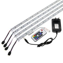 Pool striPs online shopping - LED Bar Light RGB cm IP68 SMD36LED LED Rigid Strip Swimming Pool DC V with Switch Power Adapter