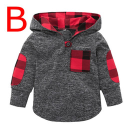 China xmas spring kids hoodies fashion childrens boutique clothing plaid floral long sleeve sweatshirts unisex baby clothes boys girls hooded 0-4Y suppliers