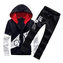 $enCountryForm.capitalKeyWord Canada - 2018 sporting suit men warm hooded tracksuit track polo men's sweat suits set letter print large size sweatsuit male 5XL