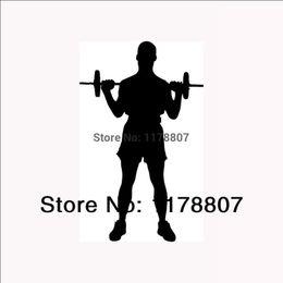 $enCountryForm.capitalKeyWord Canada - HotMeiNi Wholesale 20pcs lot Weight Lifting Sticker Gym Trainer Bench Workout for Car Truck SUV Auto Door LaptopCanoe Art Wall Decal