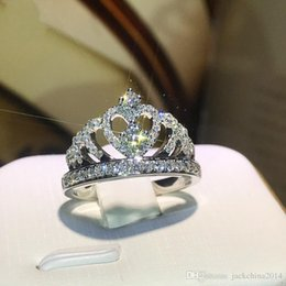 $enCountryForm.capitalKeyWord Australia - Victoria Wieck Handmade Jewelry 925 Sterling Silver Pave Tiny White Sapphire CZ Diamond Gemstones Party Women Wedding Crown Band Ring Gift