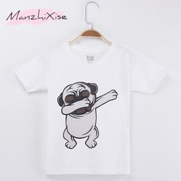 $enCountryForm.capitalKeyWord Canada - 2018 Children Clothing Kids T-shirt Pug Dog Take Off Funny Top Cotton Child Shirt Boy Short T Shirts For Baby And Girl Clothes