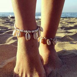 $enCountryForm.capitalKeyWord Canada - shell seaside wedding accessories bohemia anklet beach jewelry handmade braided anklet for women summer decoration drop shipping