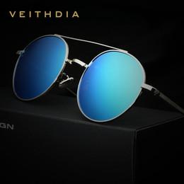 2f76b4714d VEITHDIA Brand Designer Fashion Unisex Sun Glasses Polarized Coating Mirror  Sunglasses Round Male Eyewear For Men Women 3617