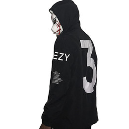 China Men Celeb Kanye West Thin Windbreaker Waterproof Streetwear with hat Arm Letters Hip Hop Street Dance Jacket supplier arms sleeve suppliers