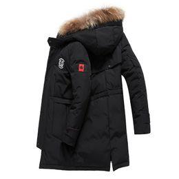 Canadian online shopping - Canadian wind winter down jacket men s long warm down jacket