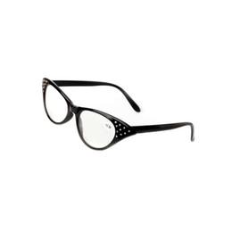 $enCountryForm.capitalKeyWord UK - Retro Reading Glasses Cat Eye Eyeglasses Women Eyewear Black Full Plastic Frame Eye Magnifying Reader +1.0~+3.5 Strength