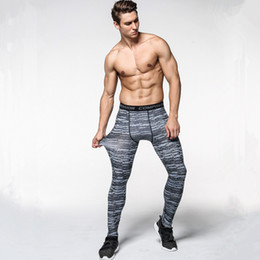 camouflage army green leggings 2019 - Men camouflage pants compression quick-drying trousers Leggings Running sports workout Gym male trouser capris of fitnes