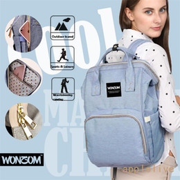 Plain Diapers NZ - Large Multifunctional Baby Nappy Diaper Bag Oxford Backpack Mummy Changing Bags