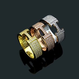 $enCountryForm.capitalKeyWord NZ - 2018 New arrival Brand name Band Rings with diamond for Women and Men fashion wedding jewelry free shipping