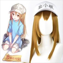 adult anime games Australia - Anime Adult Hataraku Saibou Cosplay Cells At Work Blood Platelet PLT Long Wig Straight Synthetic Hair