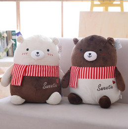 $enCountryForm.capitalKeyWord UK - New Design 1Pc 55Cm Adorable Lovers Chocolates Bear Toys With Beautiful Scarf Doll Birthday Christmas Gift For Girlfriend