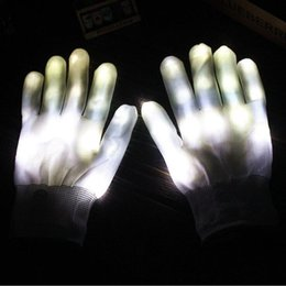 $enCountryForm.capitalKeyWord NZ - LED Flash Gloves Five Fingers Light Ghost Dance Black Bar Stage Performance colorful Rave Light Finger Lighting Gloves Glow Flashing