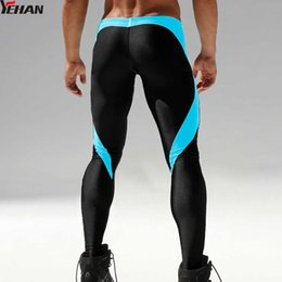 ecad28ab0 Running Men Pants Patchwork Low Rise Polyester Training Pants Compression  Leggings For Men Stretch