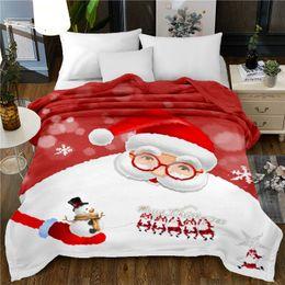 3d christmas bedding 2018 - 150x200cm bedspread blanket High Density Super Soft 3D Flannel blankets christmas decorations for home beds throw blanke