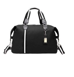 2018 gym bags man Women Duffle sports Bag Luggage Handbag Famous Brand  Solid Oxford Tote Weekend Short sports Bag 3a18726fdfedb