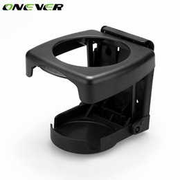 high car cup holder 2019 - Onever Universal Car Cup Holder High Quality Foldable Car Drink Bottle Cup Holders Stand for Canister Bottle Black Grey