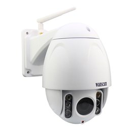 OutdOOr webcam ip wifi online shopping - WANSCAM HW0045 Waterproof IP66 Outdoor MP HD1080P X5 Optical Zoom Wifi Security IP PTZ Camera IR Cut Plug Play Recording Webcam