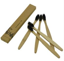Bamboo Зубная щетка Bamboo уголь Зубная щетка Мягкая нейлоновая капителилла Bamboo Зубные щетки для гостиничной кисти для зубов EEA196